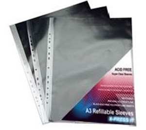 Picture of X-Press It Refillable Sleeves A3 (10) pk