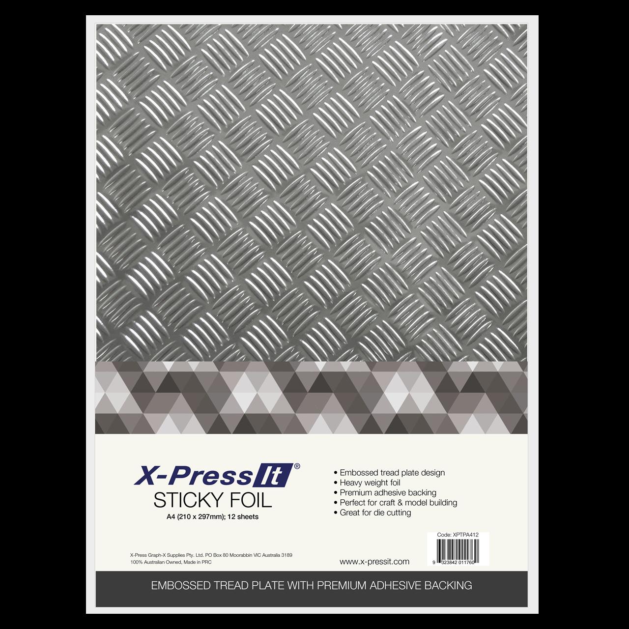 X Press It Australia X Press It Sticky Foil Tread Plate A4