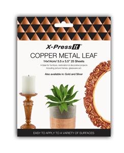 Picture of X-Press It Copper Metal Leaf 140x140 25sh/bk