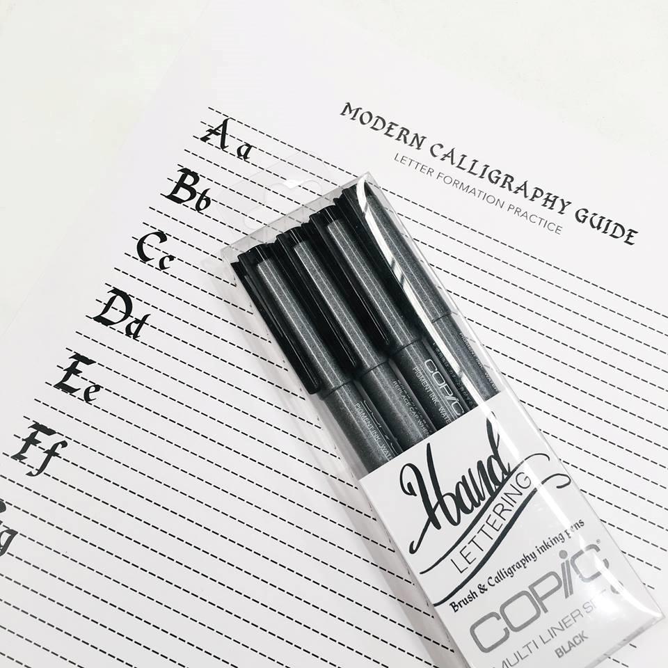 Modern Brush Lettering Guide Worksheet