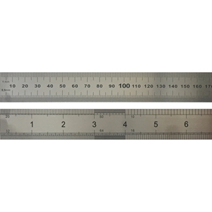 Picture of Steel Ruler 30cm METRIC/IMPERIAL