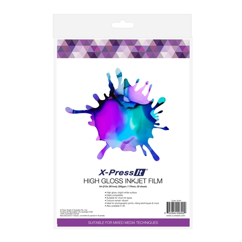 Picture of X-Press It High Gloss Inkjet Film A4 (20sht)
